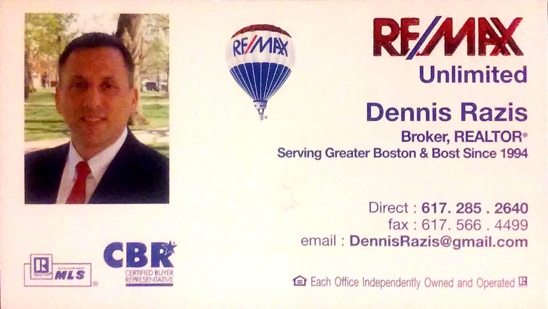 Dennis Razis, RE/MAX Unlimited, Brookline, MA